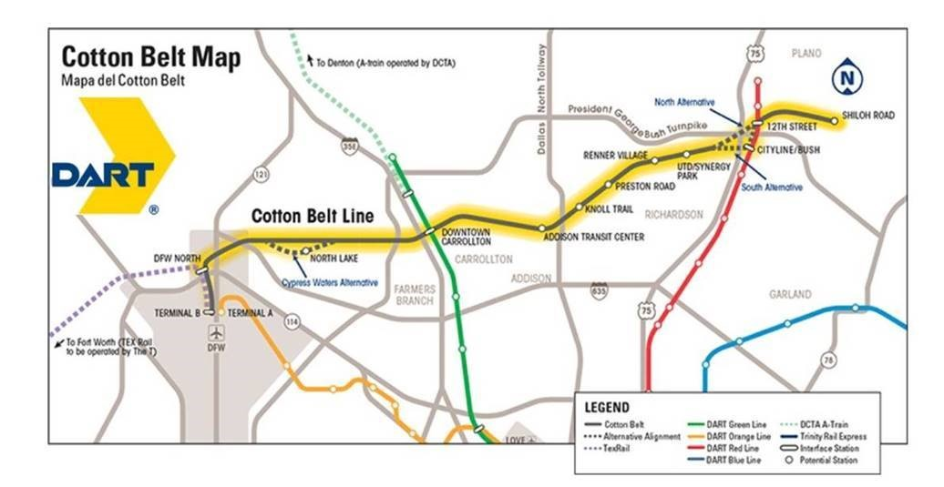 DART Cotton Belt Line Operational in 4 Years on